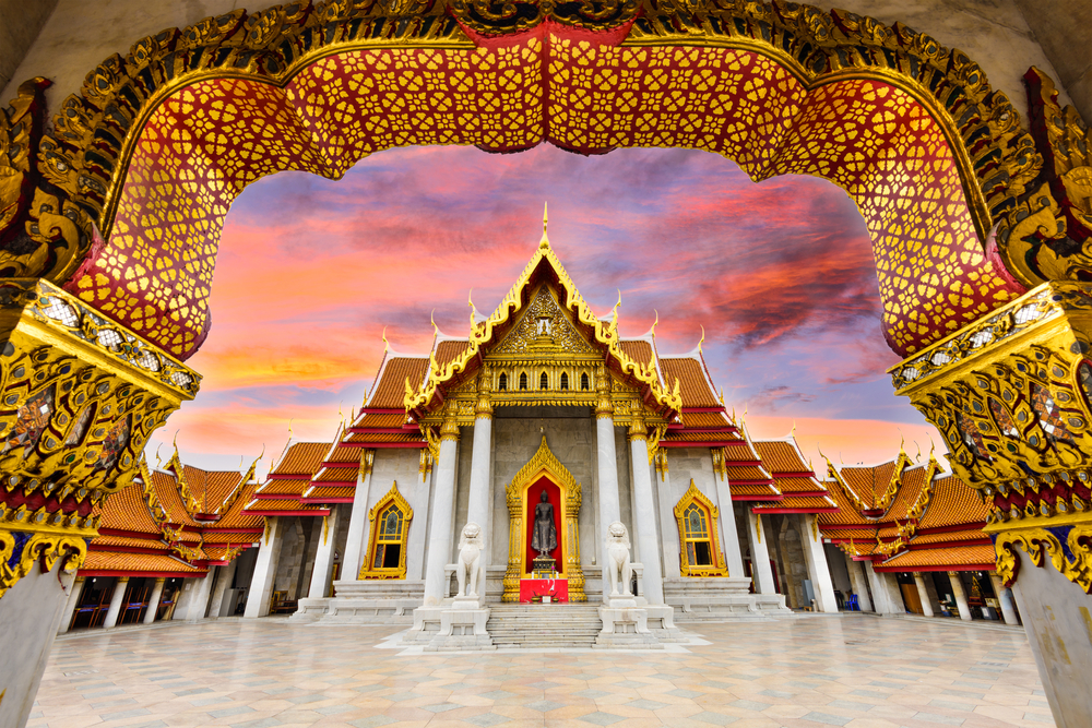 Temple in Thailand symbolzing Thai translation services